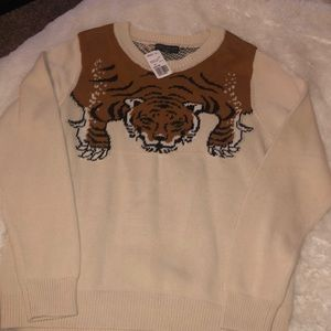 Forever 21 Plus Tiger sweater NWT